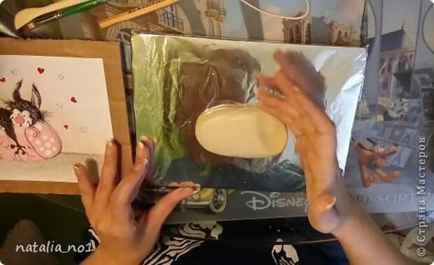 Мастер-класс Поделка изделие Лепка Кот на колбасе - Мастер класс Тесто соленое фото 6