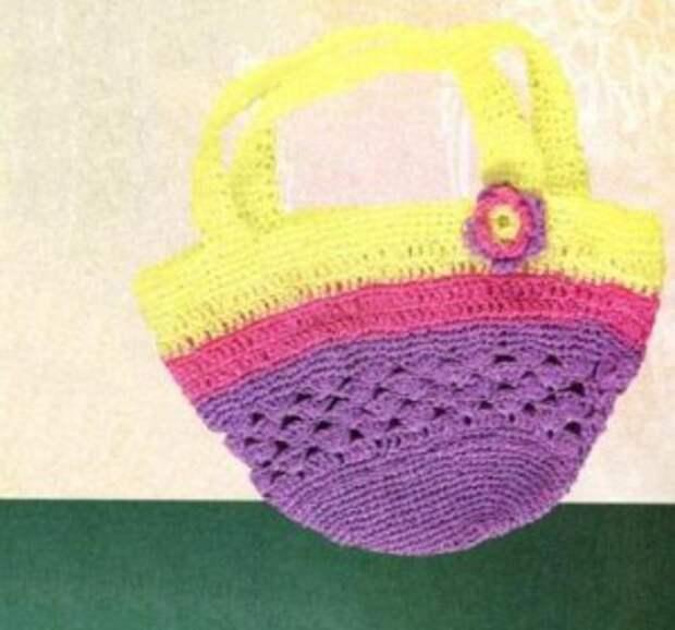 Вязаная сумка крючком для девочки, фото