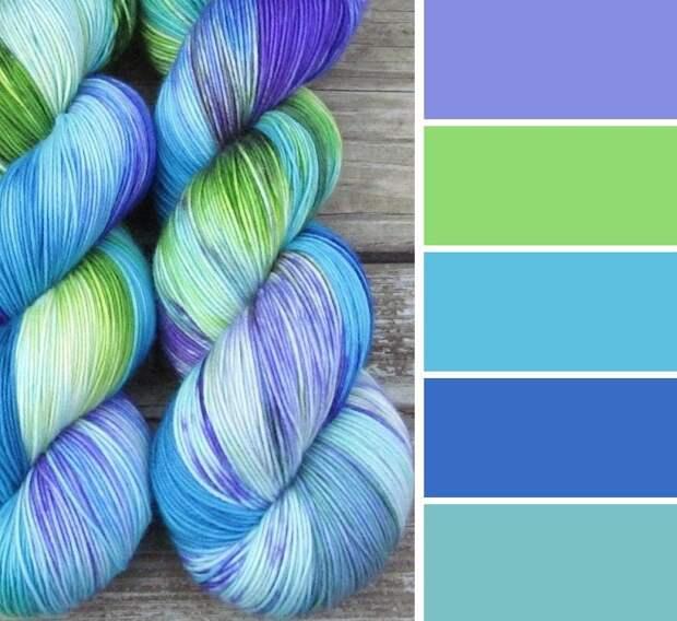 сочетание цветов для вязания