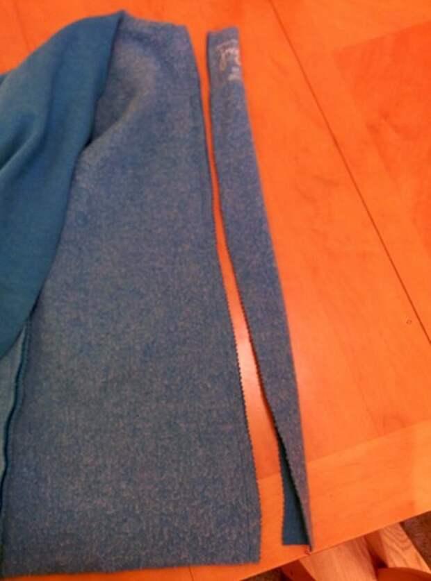 Переделка спортивного свитшота в деловой кардиган (Diy)
