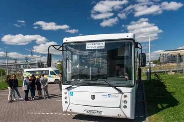 Электробус КАМАЗ испытали в Сколково