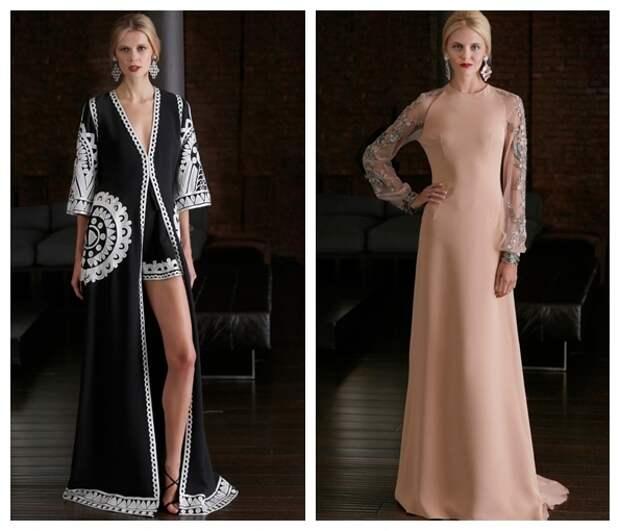 Красивые вечерние платья весна-лето 2015, фото с показов мод