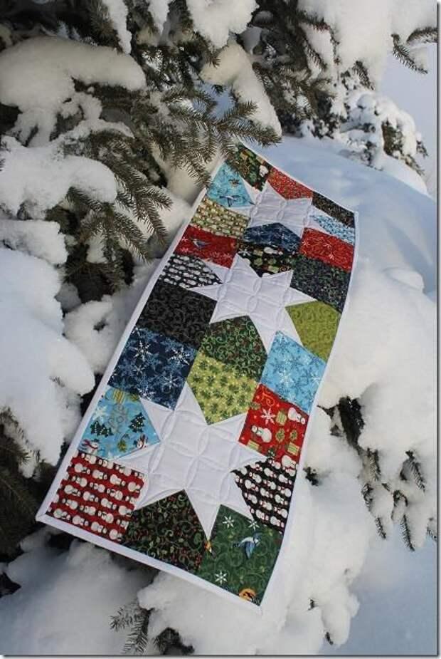 Вдохновляющая подборка зимних квилтов