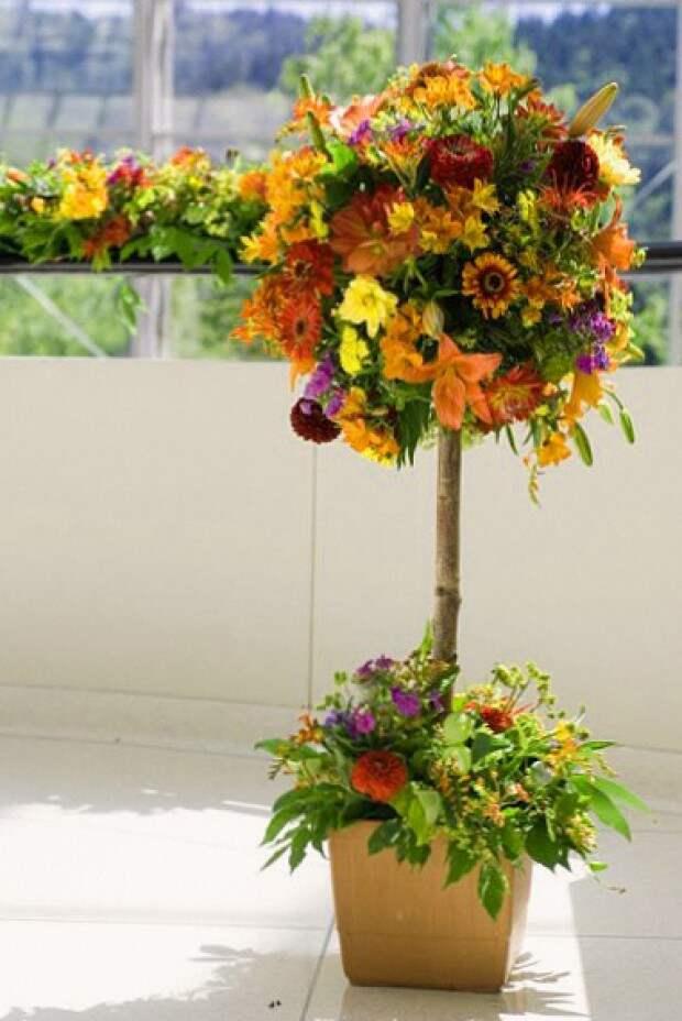 Цветочный топиар