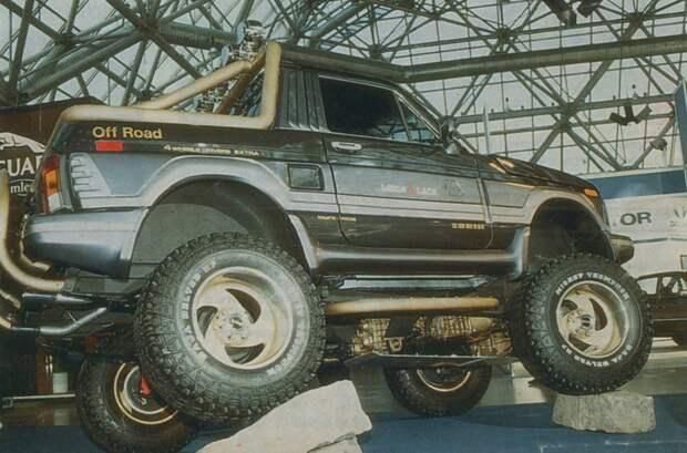 """Внедорожник """"Черный Принц"""" из 90-х авто, внедорожник, нива, тюнинг"""
