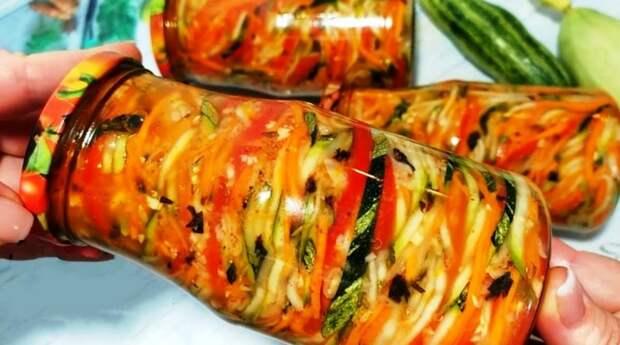 Знала бы раньше, приготовила бы больше. Рецепт кабачков по-корейски: красивый и аппетитный салатик на зиму