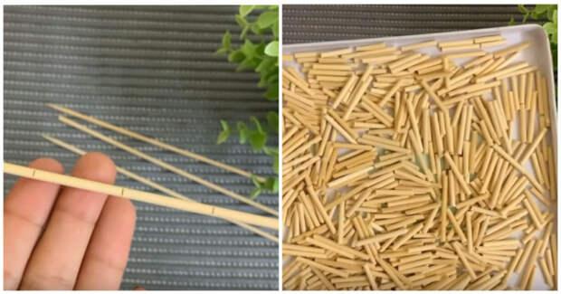 Любопытное и нестандартное применение деревянных палочек