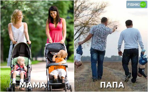 Родители увлечены разговором с друзьями. дети, мамы, папы, юмор