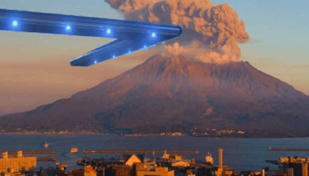 Вулканом Сакурадзима всерьез интересуются НЛО. К чему бы?