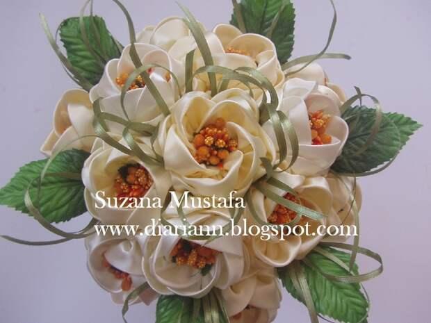 Цветы из шелковых лент от Suzana Mustafa. Идеи и мастер-класс (12) (700x525, 270Kb)