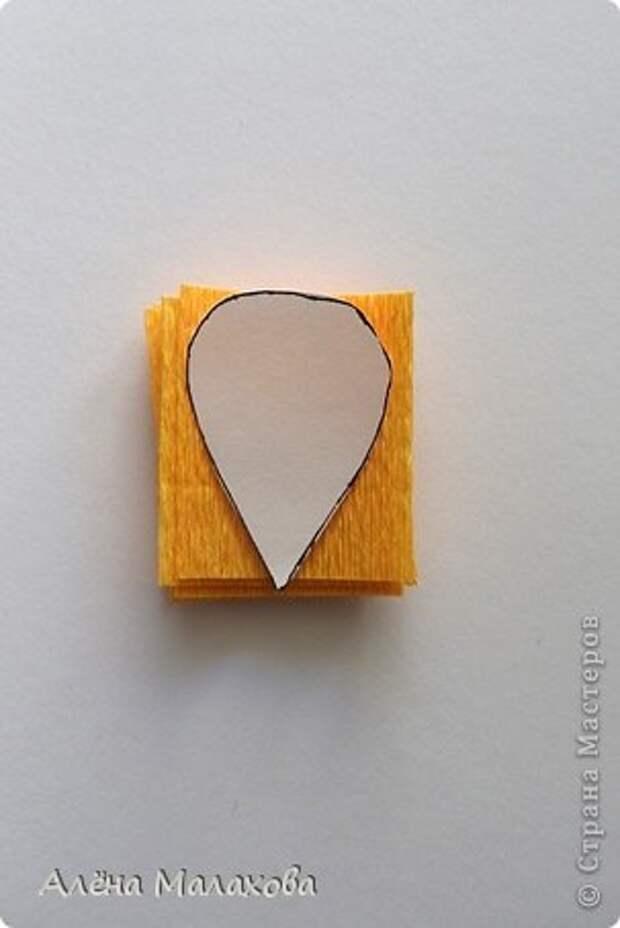 Мастер-класс Роза из гофрированной бумаги Бумага гофрированная Клей фото 4