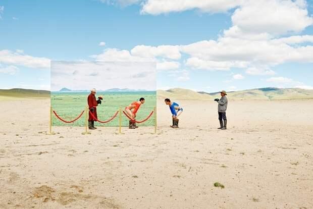Изменение климата в Манголии в креативных фото