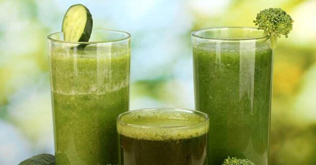 Супер зеленый смузи для выведения токсинов из крови, печени, почек и кишечника