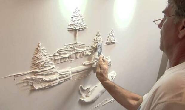 Настенный барельеф своими руками — реальность, разрывающая пространство