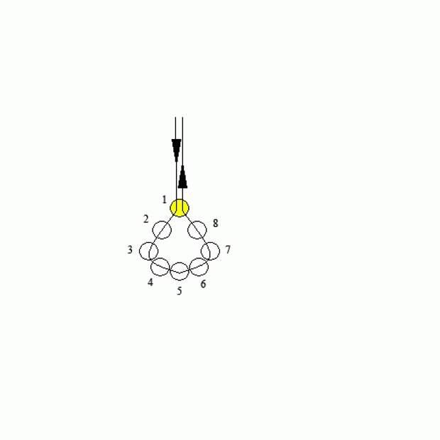 Схема свадебного ожерелья с жемчугом - анимация