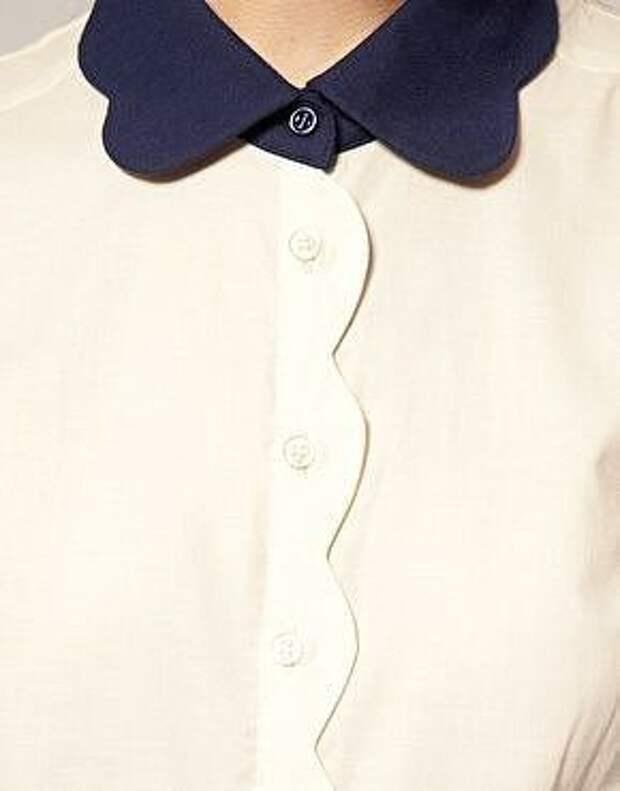 Идеи оригинального оформления верха блузок и платьев 6