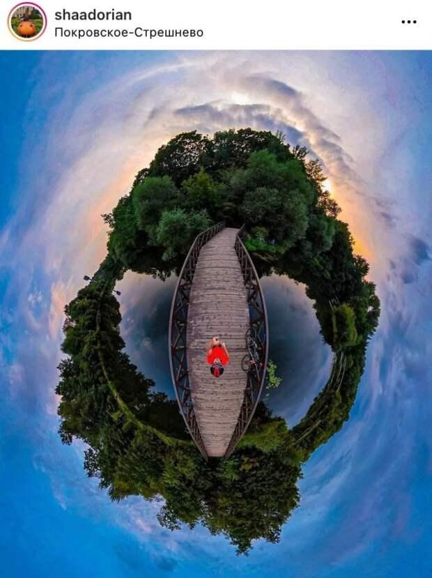 Фото дня: сферическая панорама парка «Покровское-Стрешнево»