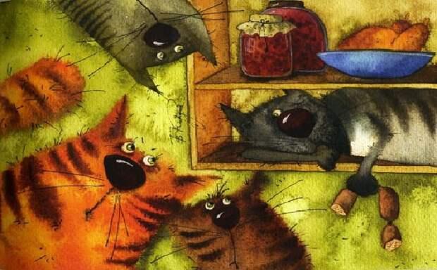 Забавные мурлыки от современных художников, которые заставляют поверить, что «нет кота – в доме пустота»