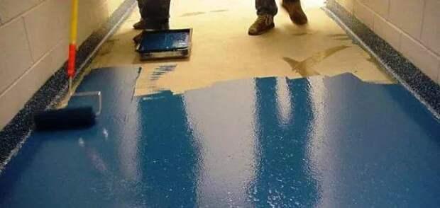 Зачем красят бетонные полы и какая краска под это подходит