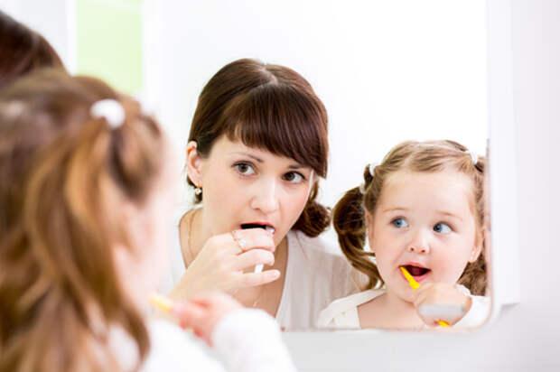 Чистить зубы, дети, умываться