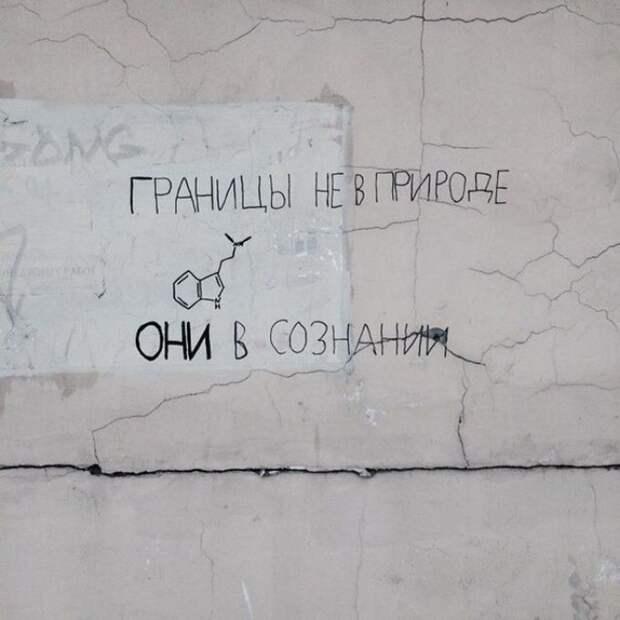 Когда надписи на стенах смотрят прямо в душу надпись, стена, юмор