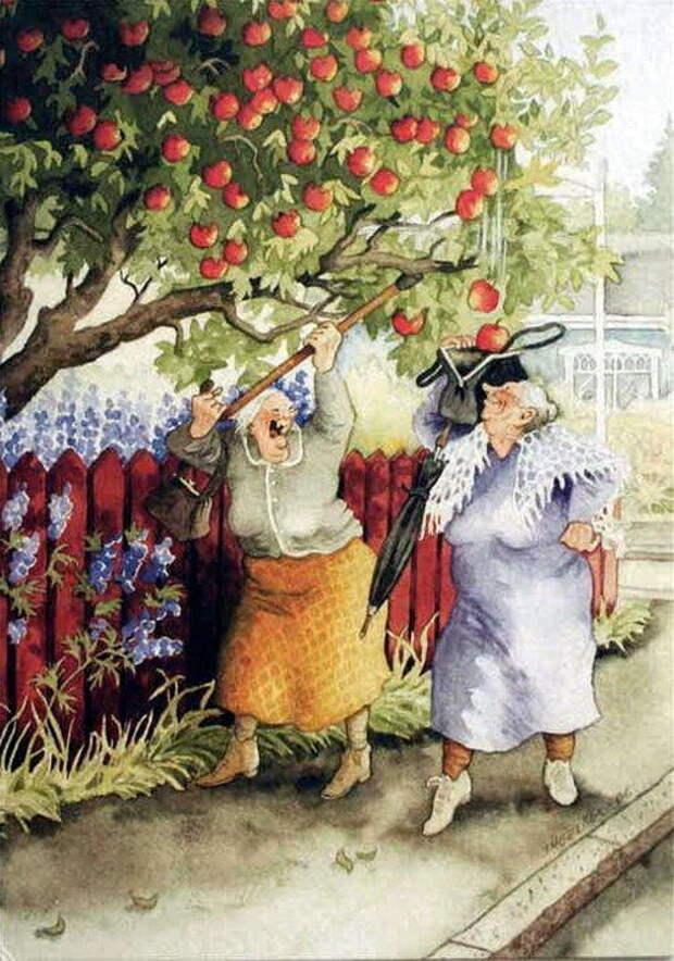 Старушки-веселушки от Инге Лёёк.
