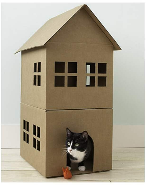 Кошачий домик своими руками.