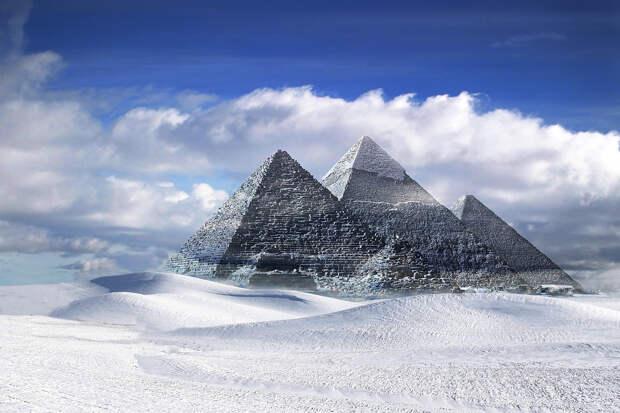 Ливию и Египет замело снегом