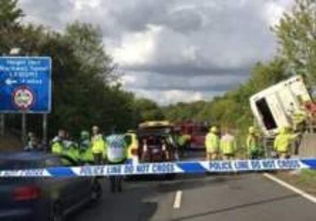 40 человек пострадали в дтп в Англии