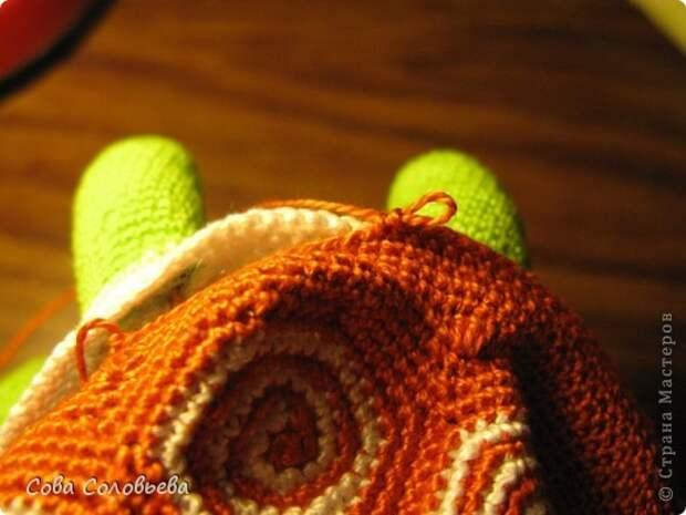 Игрушка Мастер-класс Вязание крючком изготовление Черепашки Пряжа фото 22