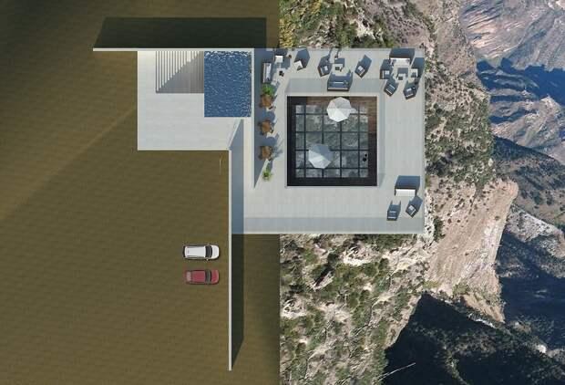 С высоты птичьего полета: захватывающий проект бара на скале