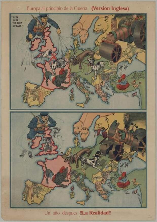1915 Германия медведь, россия