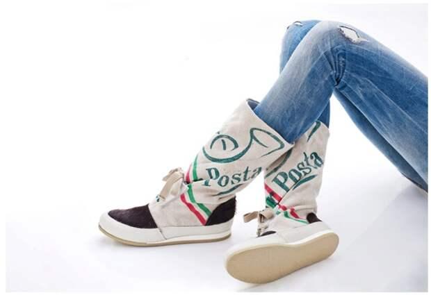 Новая обувь из старой одежды от Pleasemachine