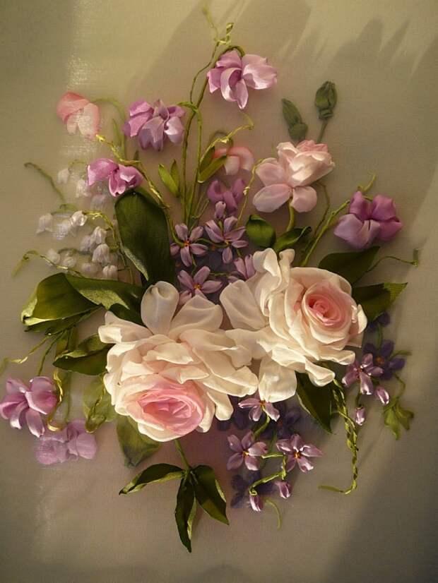 ribbon work flowers