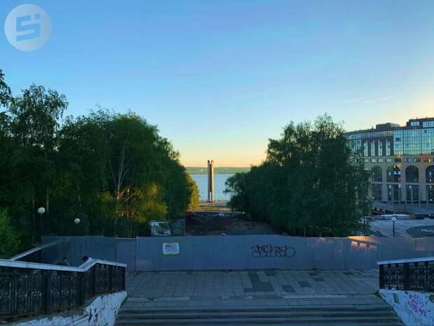Реконструкцию эспланады на Центральной площади Ижевска завершат до 25 августа