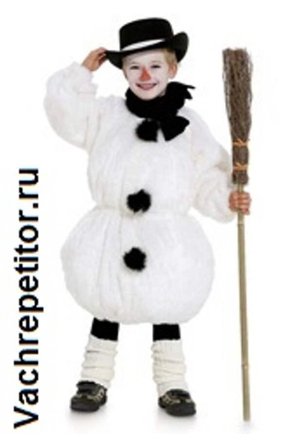 Новогодние детские костюмы. Снеговик