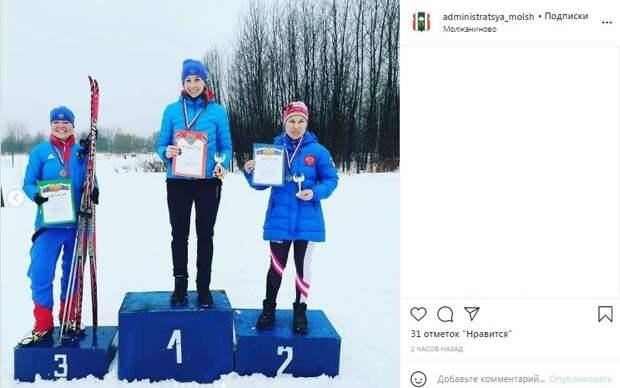 Жительницы Молжаниновского взяли «серебро» и «бронзу» в окружной лыжной гонке