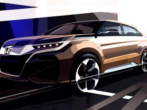 Honda показала эскиз нового кроссовера