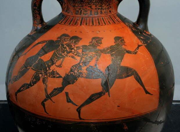 Состязание в беге. Чернофигурная ваза. Около 530 года до н.э., Афины - Большие игры Древней Греции | Warspot.ru