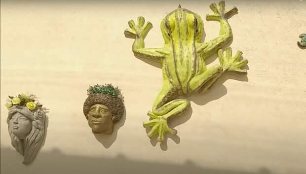 Великолепная декоративная лягушка своими руками