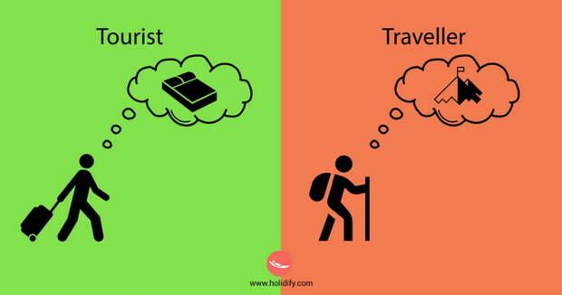 Разница между туристами и путешественниками