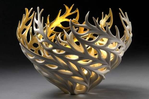 Позолоченная ваза Коралл
