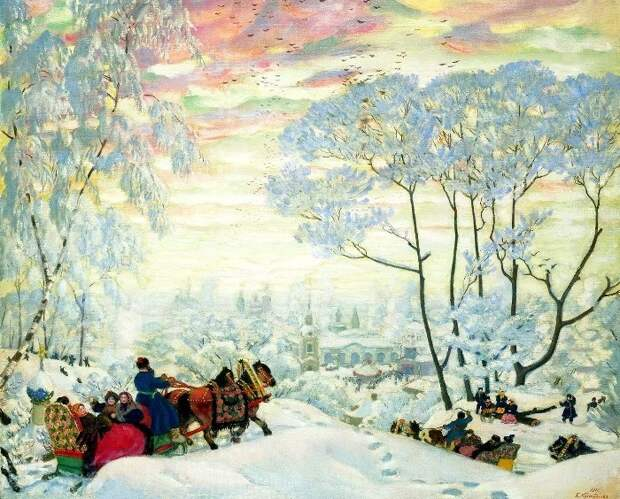 Б. Кустодиев. Масленица, 1916
