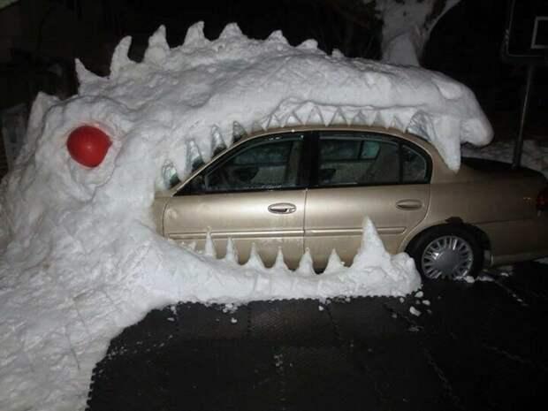 Снежный дракон креатив, подборка, поделка, самоделки, сделай сам, скука, фото