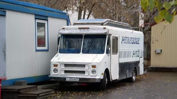 Американский фудтрак на шасси Chevrolet 1985 года… ЛАЗ, ЛАЗ-4969, авто, автобус, кухня, олдтаймер, ретро техника, фудтрак