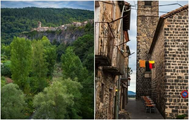 Средневековый городок с одной улицей привлекает множество туристов (Castellfollit de la Roca, Испания). | Фото: life4trip.ru.