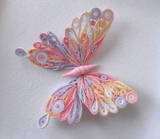 бабочка, квиллинг