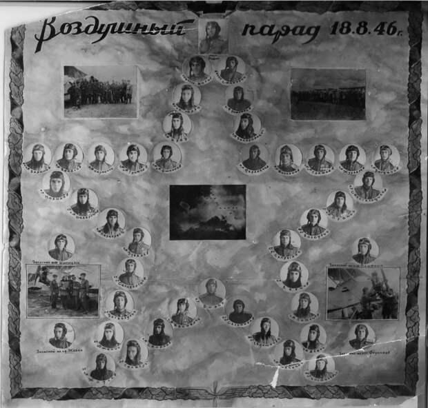 Советские летчики-участники воздушного парада 18 августа 1946 года