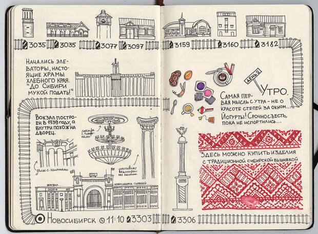 """Новосибирск. Точно подмечена """"элеваторность"""" этого края. путешествие, рисунки"""