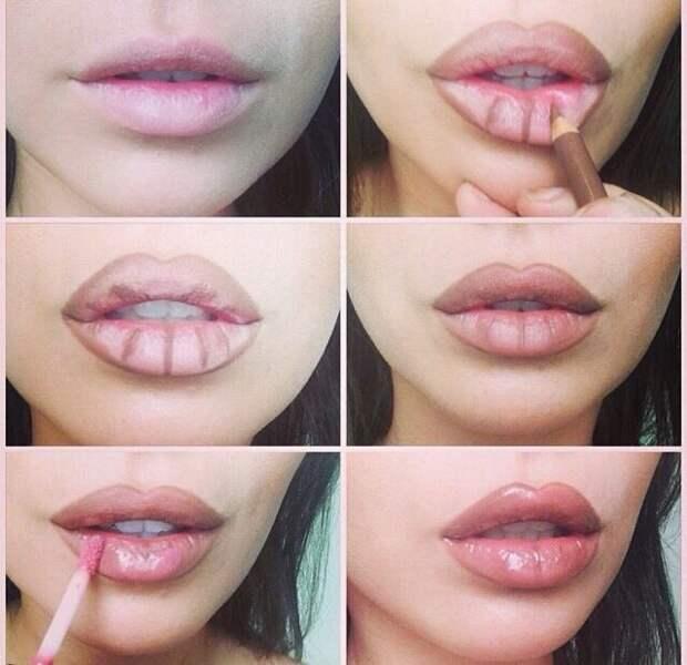 Как изменить форму губ